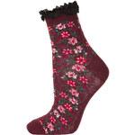 Topshop Burgundy Ditsy Ankle Socks
