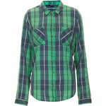 Topshop Long Sleeve Check Shirt