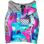 Topshop **Miami Tight Crop Top by Illustrated People