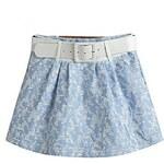 LightInTheBox Women's Summer Sun Sky Blue Priting Cute Sexy Mini Skirt(Belt Included)