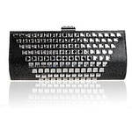 LightInTheBox Jiminy Women's European Top Grade Diamonade Evening Clutch Bag(Black)