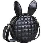 LightInTheBox Small Cute Circle Plaid Rabbit Ear PU Crossbody Bag