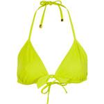 Topshop Lime Bow Triangle Bikini Top