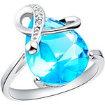 LightInTheBox Elegant Sliver Blue With Cubic Zirconia Tear Women's Ring(Blue,Purple)(1 Pc)