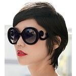 LightInTheBox Helisun Women's Vintage Fashion KawasakiSunglasses 9012-1 (Black)