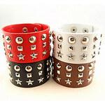 LightInTheBox Women's Punk Rivet Leather Bracelet