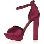 Topshop LOLA Satin Strap Sandals