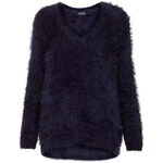 Topshop Knitted Fluffy V Neck Jumper