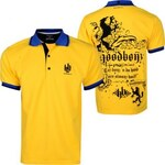 Hoodboyz Lion Stitched Luxes Men Polo Shirt Yellow Black