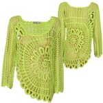 Sublevel Knit Structure 3/4 Women Poncho
