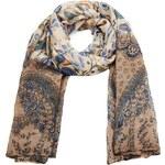 Intrigue Velký šátek na krk se vzorem květin a lístečků