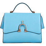 LightInTheBox Global Freeman Women's European Free Man Solid Color Two Uses Leather Tote(Light Blue)