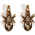 Pamela Love Brass Scorpion Stud Earrings