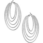 Topshop Multirow Circle Hoop Earrings