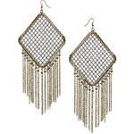 Topshop Mesh Diamond Earrings