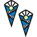 Topshop Neon Geo Triangle Earrings