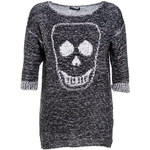Terranova Sweater with jacquard skull
