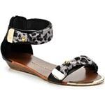 Timeless Černé leopardí sandálky Timeless Sarah
