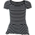 Terranova Striped t-shirt with peplum