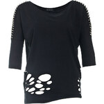 Terranova T-shirt with laser-cut holes