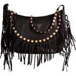 Valentino Leather Shoulder Bag with Fringe