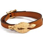Valentino Leather Griffon Wrap Bracelet