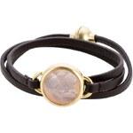 Sence Copenhagen CARRIE Armband schwarz/antikgoldfarben