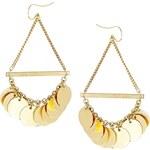Made Mduara Disc Drop Earrings - Gold