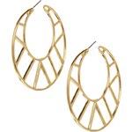 ASOS Cut Out Hoop Earrings