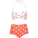 Topshop Coral and Cream Spot Bikini