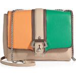 Paula Cademartori Colorblock Leather Shoulder Bag