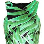 Topshop Leaf Print Cutaway Crop Top