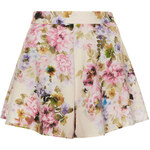 Topshop **Floral High-Waisted Shorts by Oh My Love