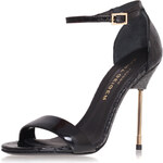 Topshop **Belgravia Metal Heel Sandals by Kurt Geiger