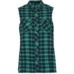 Topshop Sleeveless Jade Check Shirt