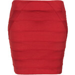 Topshop Red Bandage Panel Mini Skirt