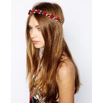 Johnny Loves Rosie Eden Red Flower Headband