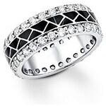 Große Größen: Ring, s.Oliver, »SO804/1-4«, schwarz, Gr.16,5 = 52 mm Umfang-18,5 = 58 mm Umfang