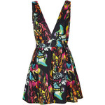 Topshop **Deep V Printed Scuba Dress by Oh My Love