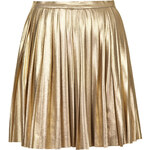 Topshop **School Of Rock Metallic Pleated Skirt by Jovonna