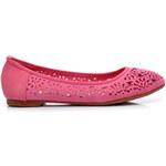 Hshoes Vykrajované baleríny růžové YT-032WM Velikost: 37/24cm