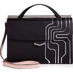 Fendi Graphic Leather Demi Jour Convertible Satchel