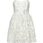 Topshop **White Paisley Textured Sweetheart Prom Dress by Rare