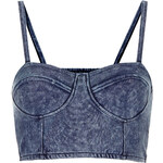 Topshop Denim Cupped Strappy Bralet