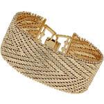 Topshop Premium Gold V Linked Bracelet