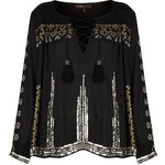 **Embroidered Smock Blouse by Kate Moss for Topshop
