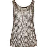 **Ring Detail Mesh Vest by Kate Moss for Topshop