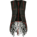 **Leather Weave Gilet by Kate Moss for Topshop
