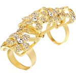 Love Rocks Daisy Filigree Articulated Ring - Gold
