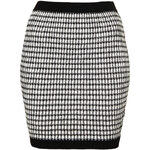 Topshop Gingham Ruched Skirt